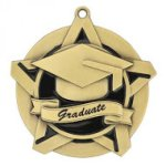 Graduate Super Star Medal  Scholastic Trophy Awards