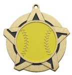 Softball Super Star Medal Gold Super Star Medal Awards