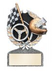 Racing Multi Color Sport Resin Figure Wreath Awards