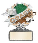 Coach Multi Color Sport Resin Figure Wreath Awards