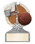 Basketball Multi Color Sport Resin Figure Wreath Awards